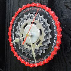 Recycled Ever Ready Bicycle Light Desk Clock - ReCycle & BiCycle Eco Friendly Cleaners, Cardboard Gift Boxes, Quartz Clock Movements, Bicycle Lights, Desk Clock, Recycling, Wall, Motorbikes, Clock Table
