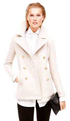 I really want a white peacoat or leather jacket for fall.  too bad it's so hard to keep clean..