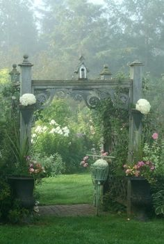Enchanted garden entrance, to make your garden feel like it has come out of the past.