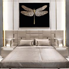 Special Order Design: Luxury Swarovski Crystal Embellished Wall Art: Gold Dragonfly  * 140 x 175 cm * Custom Sizes Available * Price Guide From: $20,000 * Request Quote