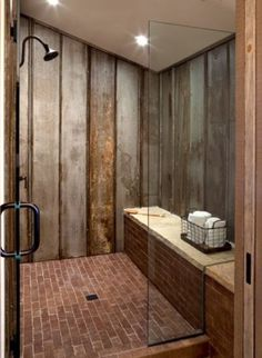Amazing bathroom ideas with a touch of metal.