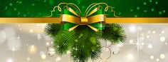 Free Xmas Facebook Covers | Green and Gold Bows by RT Digital Media Marketing, SEO, Social Media, Email Marketing, Content Marketing