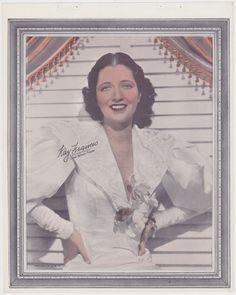 Details about  Kay Francis 1938 Vintage Color Toned Movie Star Premium Photo - 7-7/8 X 9-7/8