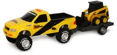 Toystate Road Rippers Light And Sound Sport Trailer: Ford F-150 With CAT Skid Steer by Toystate. $14.99. This vehicle has flashing lights, realistic sound effects and music. Both these vehicles share a similar paint job making sure everyone around knows how serious they are. Two AA batteries are included. This free-wheeling Ford F-150 get you to the work site and the CAT Skid Steer on the detachable trailer dominates any work site. Recommended for ages 3 and up. From the Manufac...
