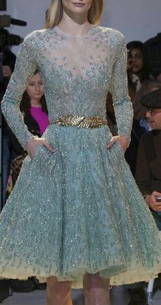 Zuhair Murad Haute Couture * Spring 2014 Blue Cocktail Dress..ஐ ❧