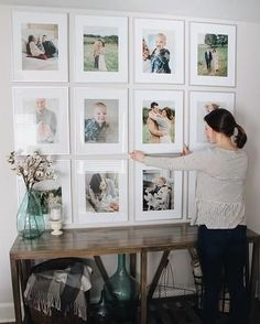 Soooo smitten with my gallery wall! It's the perfect statement piece in our family room. All of the source links + my 'how-to' are live #ontheblog! #HillHouse #gallerywall #howto #lifestyleblog