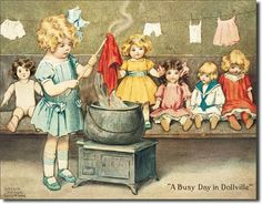 "Busy Day in Dollville Metal Tin Sign 16""W x 9.75""H Poster Discount,http://www.amazon.com/dp/B00149XYXG/ref=cm_sw_r_pi_dp_4fx8sb18GMTA9Z81"