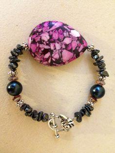 Homemade beaded bracelet for Will's grandma:)