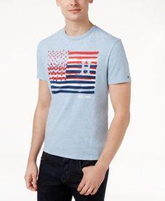 4e7c38632bf33b Tommy Hilfiger Men s Triple Flag T-Shirt Men - T-Shirts - Macy s