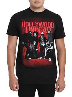 Hollywood Undead Group T-Shirt, BLACK