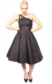 718d60351ee0 SugarShock One Shoulder rockabilly 50s SWING Petticoat Kleid Petticoatkleid  schwarz   go.insane - Rockabilly