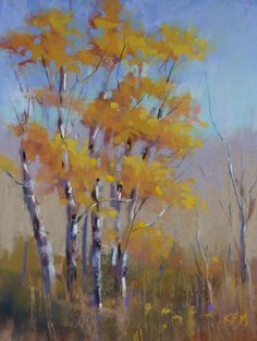 In this informal Facebook Live broadcast I paint Autumn Aspen trees with…
