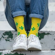 It's needless to say, you'll look sharp in these Cactus Socks. The design that truly pokes you and screams, BUY US! Don't worry though, they won't prick you, they are as comfortable as they come. Grab yourself a pair, you're on point! Cactus Socks, Don't Worry, Pairs, Stuff To Buy, Design, Fashion, Moda, Fashion Styles
