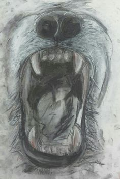 Created using chalk and charcoal
