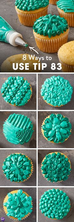 """8 Ways to Decorate using Tip 83 - Looking for some fun and unique ways to decorate your cupcakes? Try creating some fun designs using specialty decorating tip 83. Commonly used to pipe little """"X"""" shapes, this decorating tip can also be used to pipe everything from shells to zig-zags."""