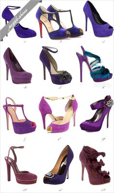 Purple Wedding Shoes  But can be worn for other things? I'll take them all.