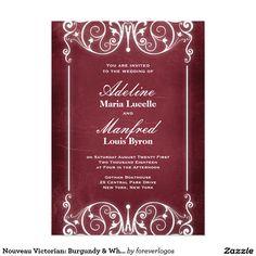 Nouveau Victorian: Burgundy & White Wedding