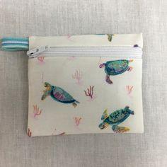 Sea Turtle, Honu Zipper Coin Purse, Credir Card Wallet, Earbud Pouch, iPod Holder by NancyPKdesigns on Etsy
