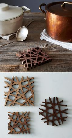 A trivet that's hard to cover up. Laser Cutter Ideas, Laser Cutter Projects, Cnc Projects, Wood Laser Ideas, Laser Cut Wood, Laser Cutting, 3d Laser Printer, Cool Coasters, Diy Furniture