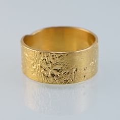 Textured Gold Plated Silver Ring from the LUNULA Collection