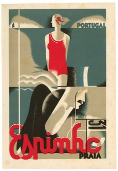 """Poster """"Espinho"""", 1932  by Fred Kradolfer"""