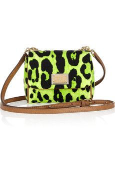 DOLCE & GABBANA  Printed canvas and leather mini shoulder bag