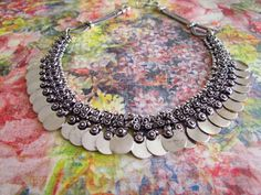 Tribal metal necklace Necklace Metal Necklace by LaMirraFashion