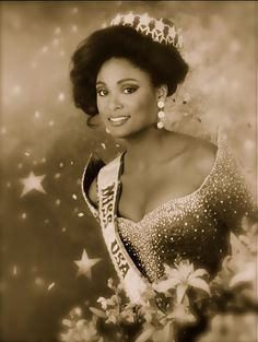 My Grandma took me to a brunch at MSU to meet her when I was 10.  I found the picture of us last night :)  Carole Anne-Marie Gist was the first African American woman to win the Miss USA title. Gist first won the title of Miss Michigan USA and went on to win the Miss USA crown on March 2, 1990 in Wichita, Kansas.