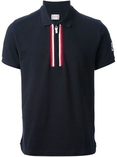 Moncler Gamme Bleu Zipped Polo Shirt - - Farfetch.com