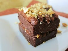 Little Raw Peanut Butter Brownie Cakes @FragrantVanillaCake