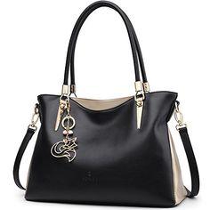 d6c8ea9ade Molodo Womens Satchel Hobo Stylish Top Handle Tote PU Leather Handbag  Shoulder Purse