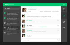 Chatty messenger web concept - by Giedrius Butkus | #ui #web