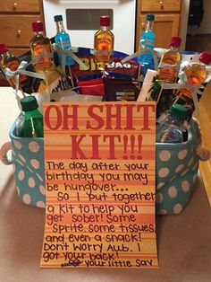 "21st birthday ""Oh Shit Kit"" for my big!!!"