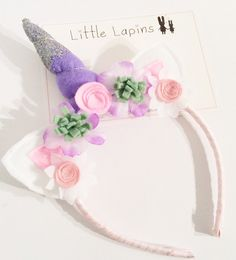 A personal favourite from my Etsy shop https://www.etsy.com/uk/listing/269020656/glitter-unicorn-headband