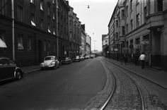 Kalevankatu leading up to Ruoholahdenranta, 1970.
