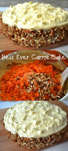 Hands down- the best ever carrot cake! Its super moist and tasty. Tasted awesom… Hands down- the best ever carrot cake! Its super moist and tasty. Tasted awesome even after 2 days of being in the refrigerator. Its a secret bakery recipe! Bakery Recipes, Dessert Recipes, Cooking Recipes, Healthy Recipes, Just Desserts, Delicious Desserts, Yummy Food, Cupcake Cakes, Cupcakes