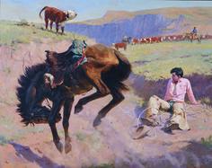 """tom ryan western artist - """"Spooked"""""""