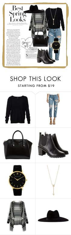 """""""Cas"""" by dorbie ❤ liked on Polyvore featuring H&M, Scoop, OneTeaspoon, Givenchy, Monki, EF Collection and Filù Hats"""