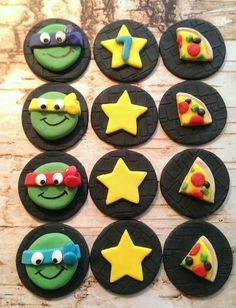 Turtles Fondant Cupcake Toppers PrettyPartyDetails https://www.etsy.com/listing/198784357/teenage-mutant-ninja-turtle-tmnt?ref=shop_home_active_19