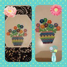 Strijkkralen Vaas met bloemen