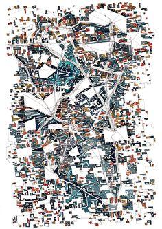 «Décalages, confusions, sous-entendus et omissions.» «Shifts, confusion, innuendo and omissions.» Drawing watercolor paper 75x55cm _ Fabrice Clapiès