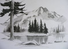 Landscape Sketch Nature Pencil Drawings 15 New Ideas Landscape Drawing Easy, Drawing Scenery, Landscape Sketch, Landscape Art, Pencil Drawings Of Nature, Landscape Pencil Drawings, Nature Drawing, Drawing Art, Drawing Ideas