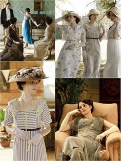 Downton Abbey fashion...such class. The world has become such classless place.