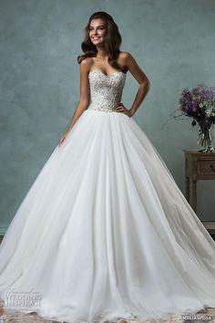 amelia sposa 2016 wedding dresses strapless sweetheart neckline beaded bodice romantic pretty a line ball gown wedding dress lauretta.