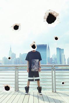 CYBERGREEN 2014 夏季 sacrifice 丝绸拼接oversizedT桖-淘宝网
