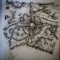 vintage sailing map brynn shepherd hays this could go in your rh pinterest com pirate ship and map tattoo pirate map tattoo ideas