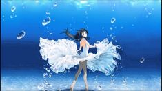 How To Draw Hair Underwater Anime Girls 29 Super Ideas Anime Black Hair, Blue Anime, Anime Oc, Kawaii Anime, Manga Pictures, Art Pictures, Photos, Girls With Black Hair, Water Drawing