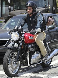 Bradley Cooper on a Triumph