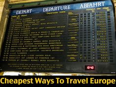 Europe is filled with transport options but not all are made equal. Read on to ensure you have found the cheapest ways to travel Europe this year