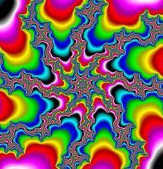 It's kind of an optical illusion Art Optical, Optical Illusions, Op Art, Creative Logo, Illusion Gif, Crazy Colour, Psychedelic Art, Fractal Art, Belle Photo